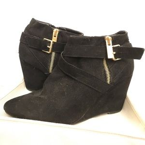 Shoes - Black Heeled Booties